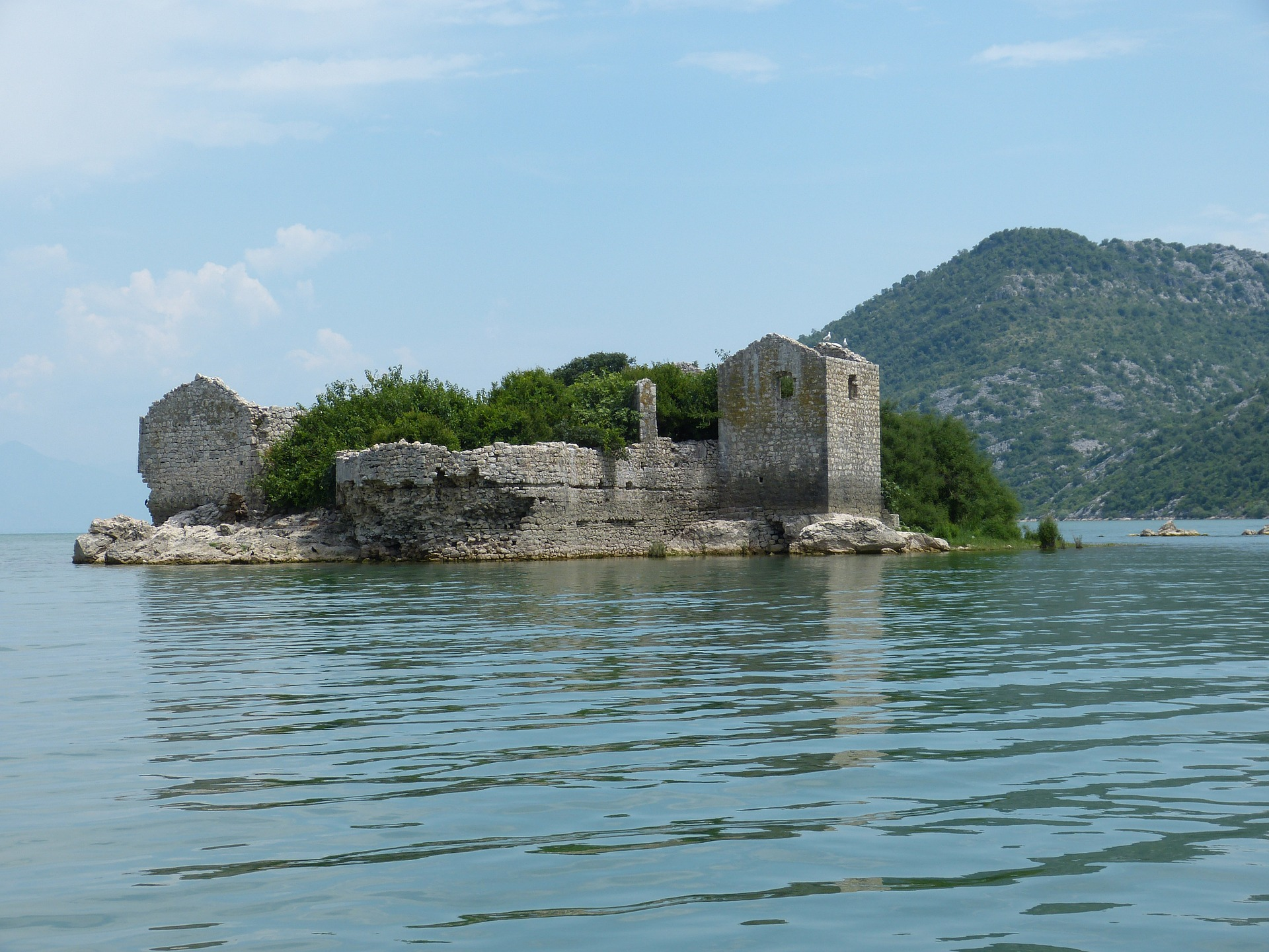 Lago di Scutari in Montenegro