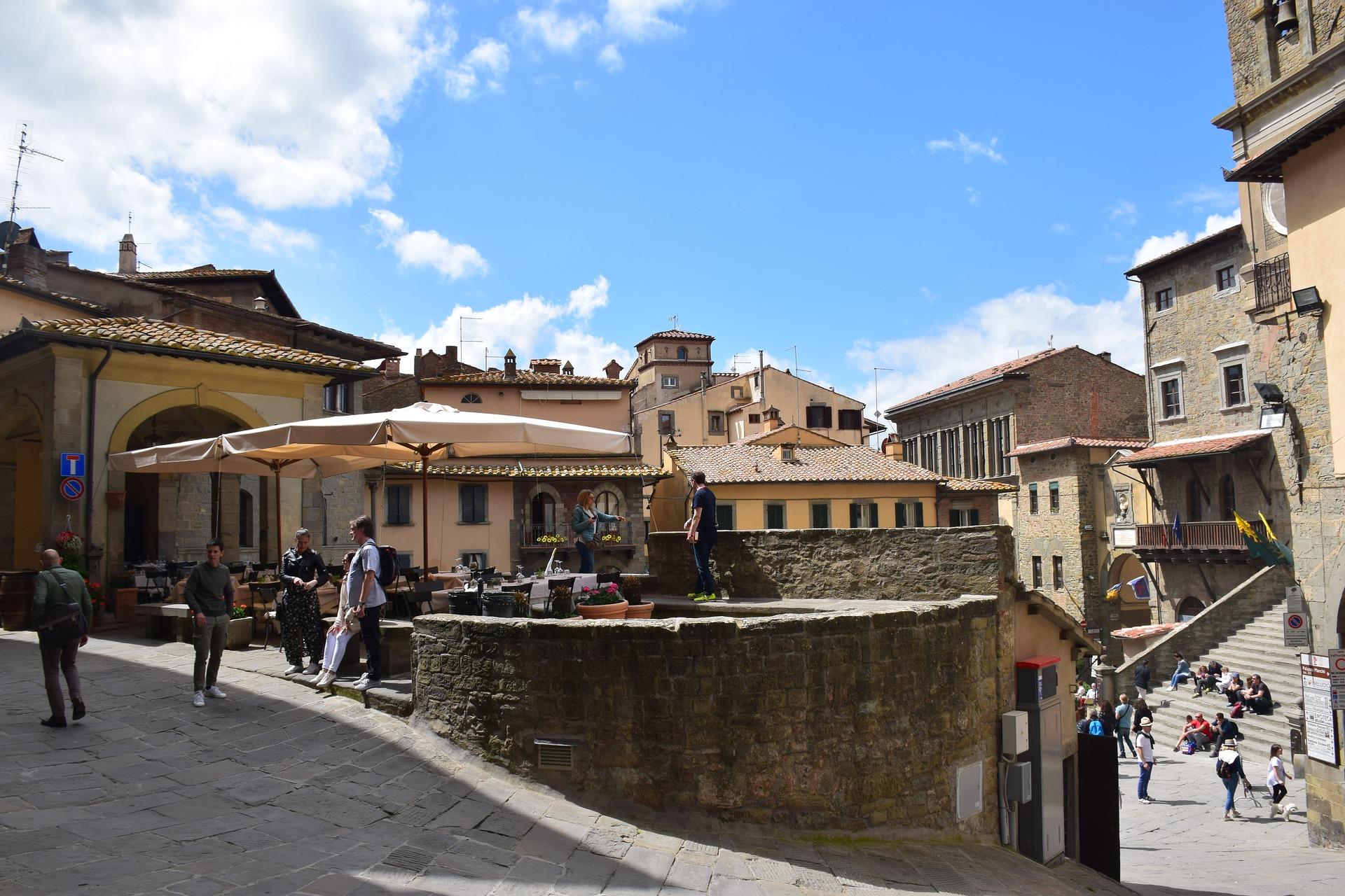 Cortona e la sua piazza in Toscana