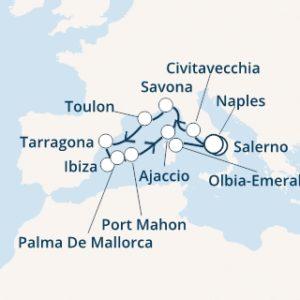 Itinerario Costa Victoria da Salerno