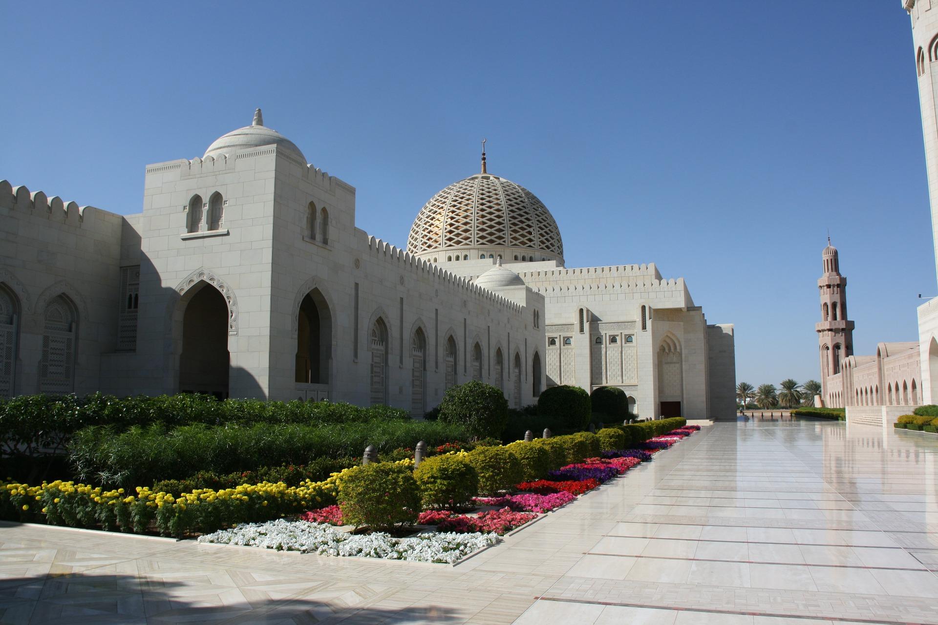 La grande moschea a Muscat in Oman