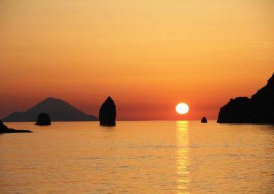 tramonto Vulcano